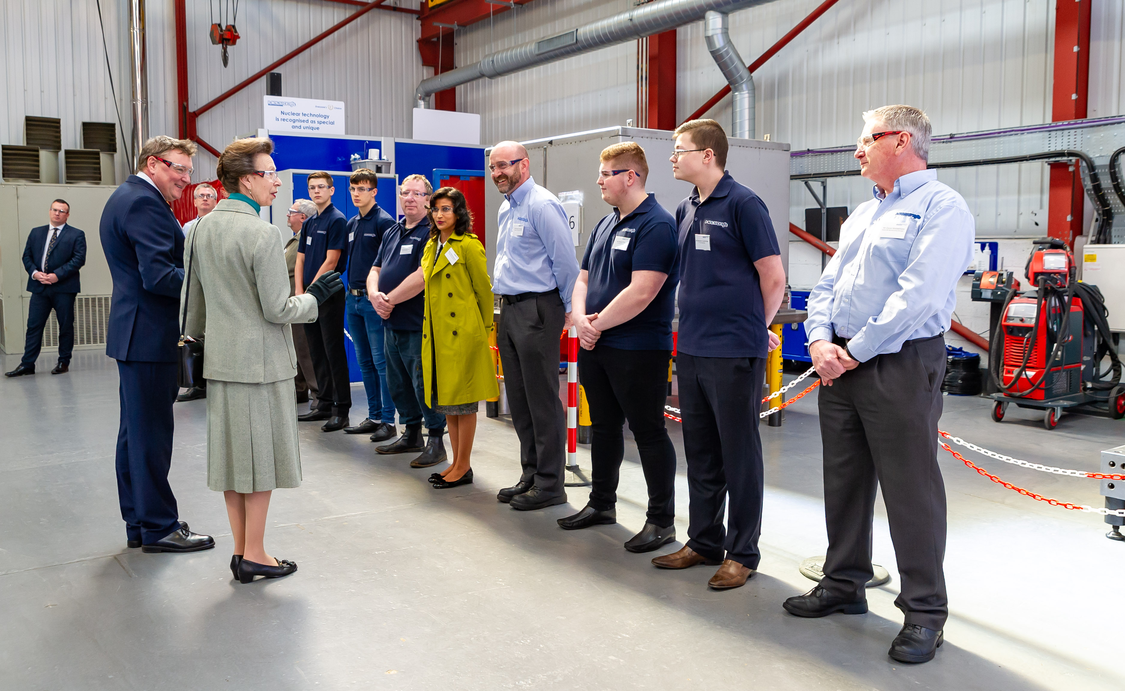 HRH the Princess Royal visits Stainless Metalcraft - March 2019